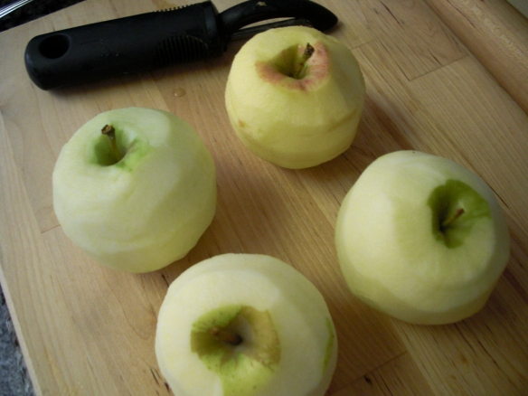 peeled apples for dumplings