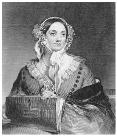 Eliza Leslie, from copper engraving based on portrait by Thomas Sully
