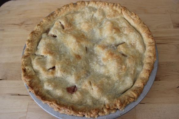 baked rhubarb pie