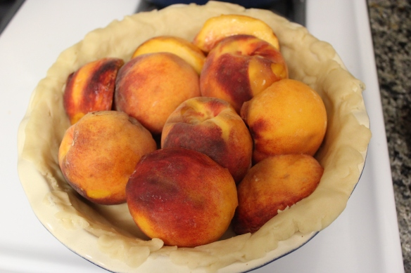 Maria Parloa's Peach Pie, in progress