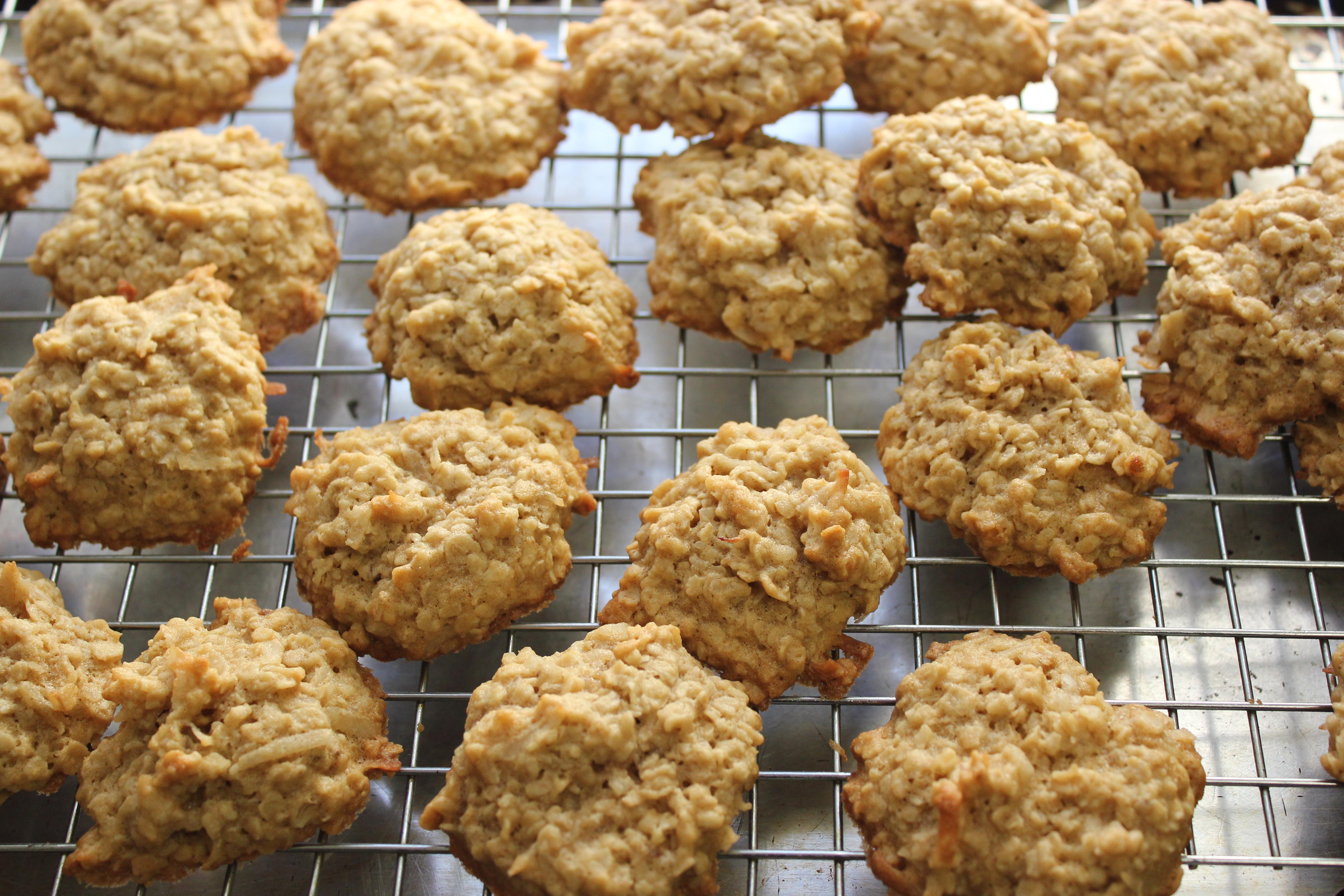 Oatmeal Coconut Macaroons Recipe — Dishmaps