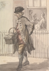 Paul Sandby's London Cries: A Muffin Man, c. 1759 (Yale Center for British Art)